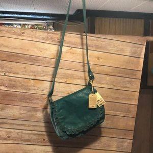 NWT vintage Lucky Brand crossbody emerald bag